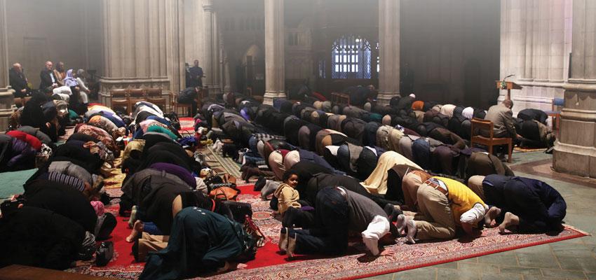 afa journal national cathedral hosts muslim prayer service